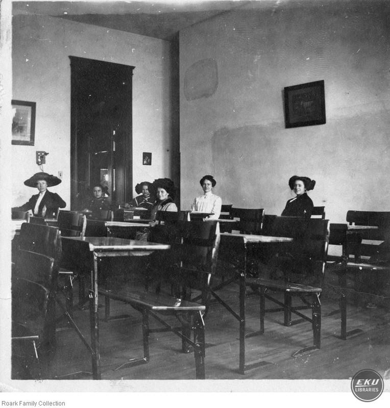 Unidentified Women n a Classroom