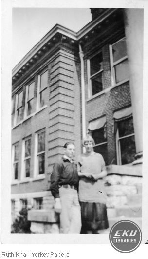 Agnes Hays and Lloyd Hill on campus