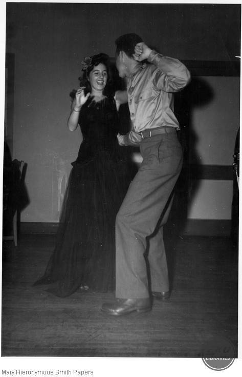 Unidentified couple dancing