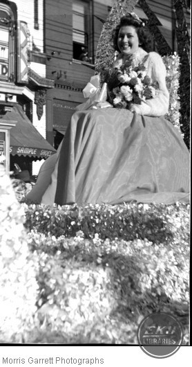 Unidentified Woman on a Float
