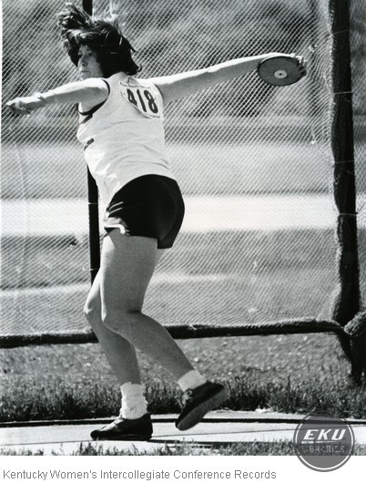 Unidentified Woman Throwing Discus