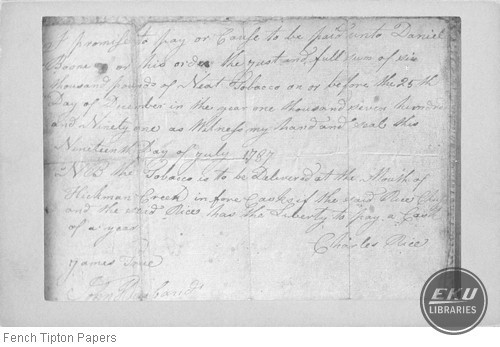 Photo of a letter by Charles Rice