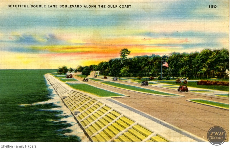 Double Lane Boulevard along the Gulf Coast