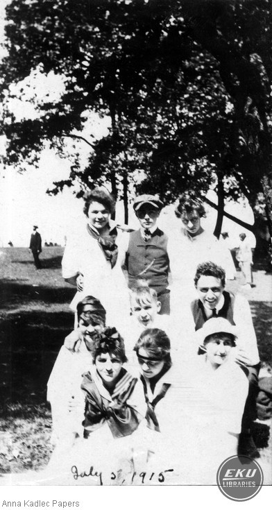 Anna Kadlec (back row, left) with the Kadlec Family