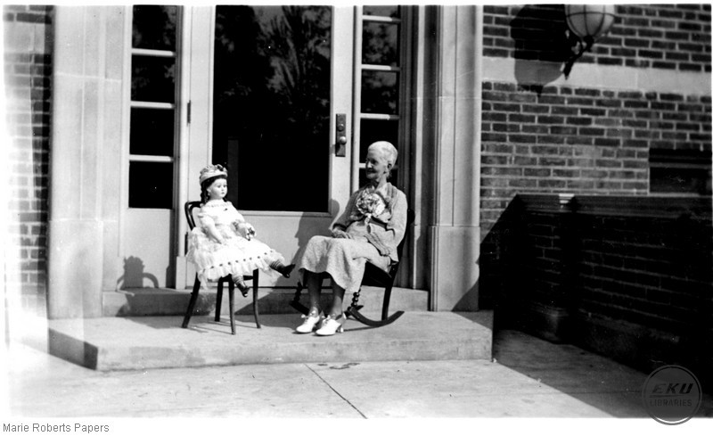 Marie L. Roberts with a Doll