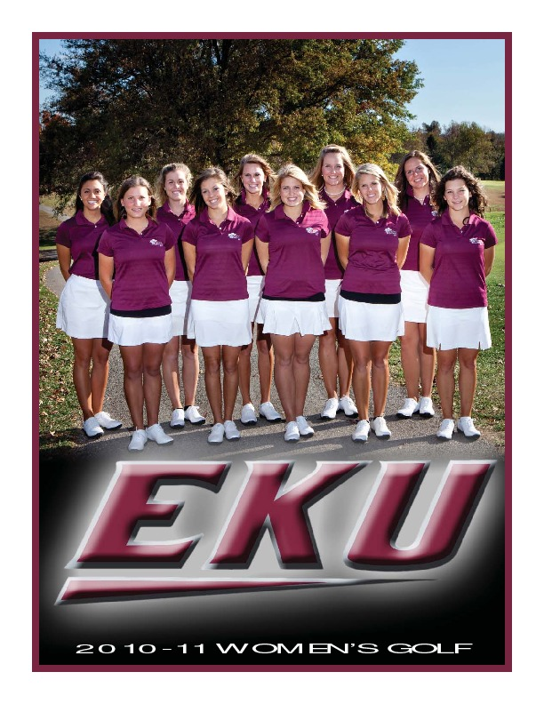 Sports Media Guide-Golf, Women's