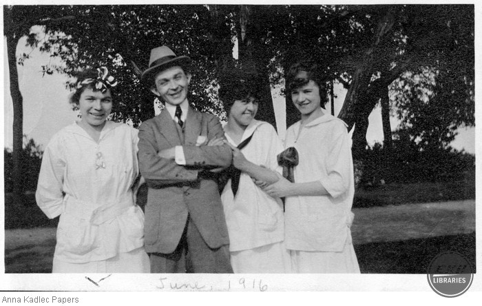 Anna Kadlec (left) and three Unidentified People