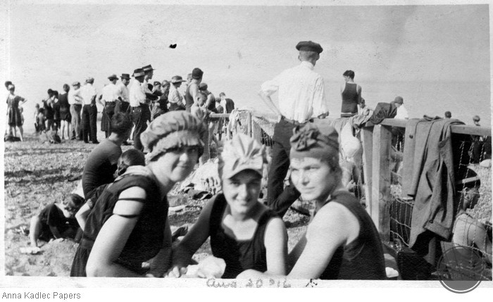 Three Unidentified Women at the Beach