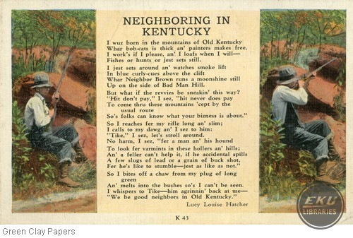 """Neighboring in Kentucky"" By Lucy Louise Hatcher"