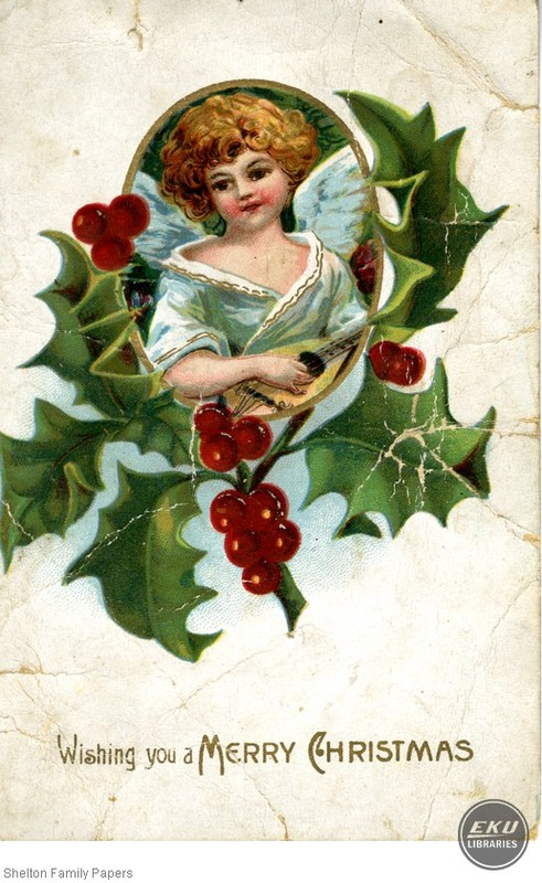 Angel on a Christmas Card