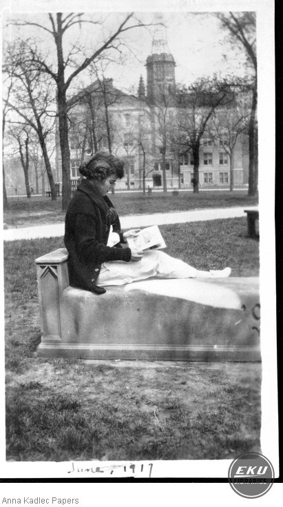 Anna Kadlec Reading Outside