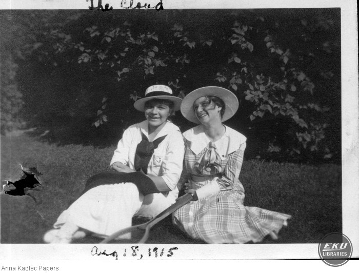 Anna Kadlec (left) and an Unidentified Woman