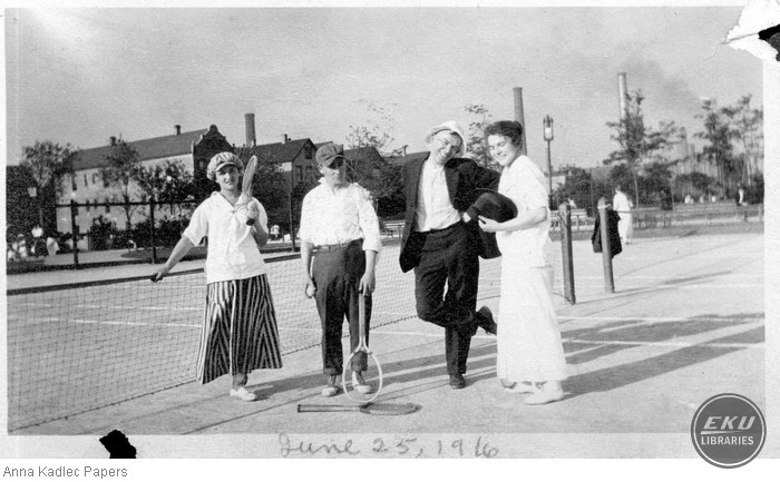 Anna and Frank Kadlec (right) with an Unidentified Couple