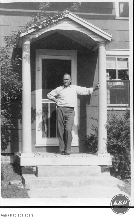 Frank Kadlec at his Cottage in Mizpah Park, MI