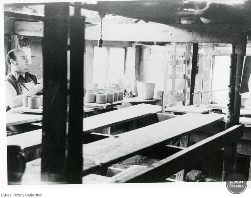 Harvey Connor Preparing Pots for the Kiln