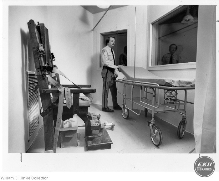Lt. Charles Carrol Stands Inside Execution Chamber of Raleigh's Central Prison