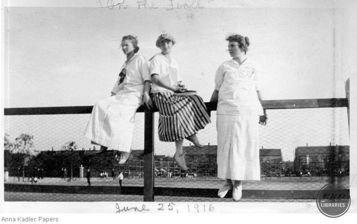 Anna Kadlec (right) with Two Women
