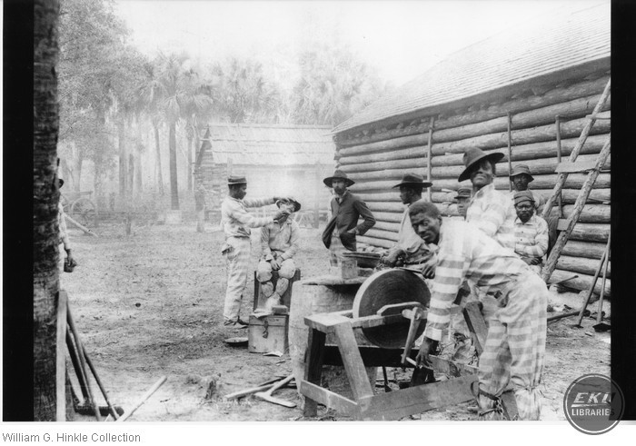 Barber Scene on a Turpentine Farm in Florida