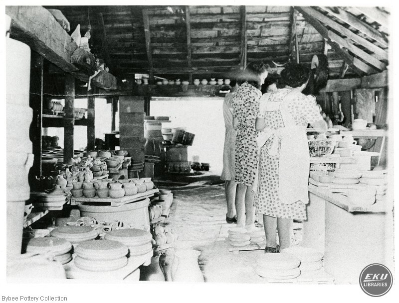 Women Working with Finished Pots