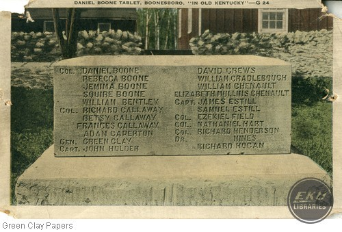 Fort Boonesborough Monument (Daniel Boone Tablet)