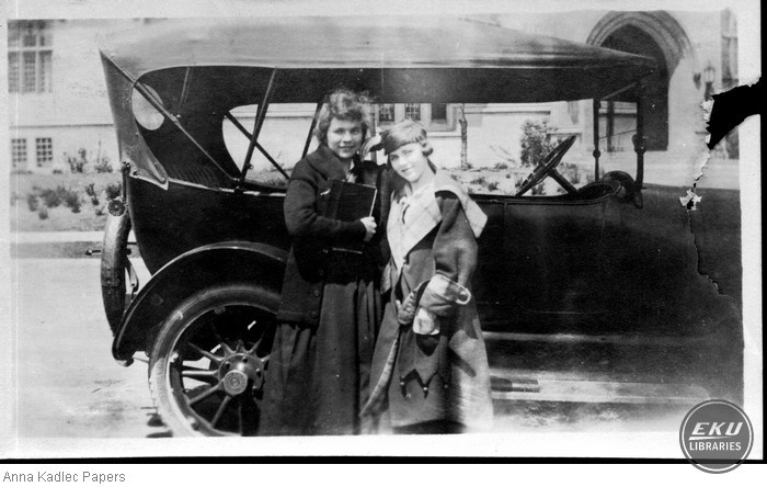 Anna Kadlec (left) and Unidentified Woman