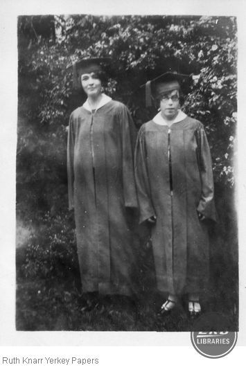 Students in cap and gown