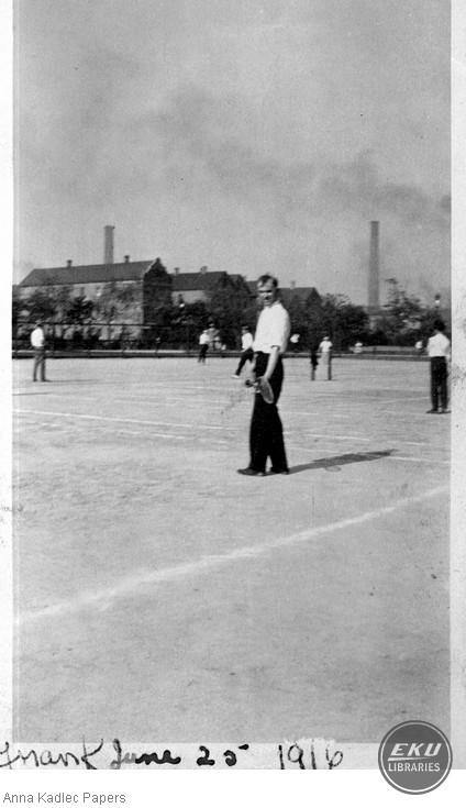 Frank Kadlec Playing Tennis