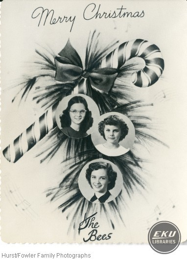 Bee Daughters in a Christmas Card