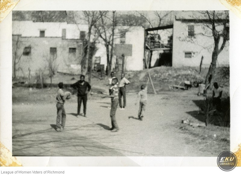 Unidentified Boys Playing Basketball