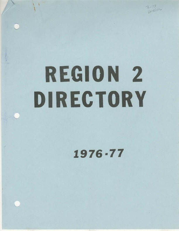 AIAW Publications Series, Southern Region II Directories