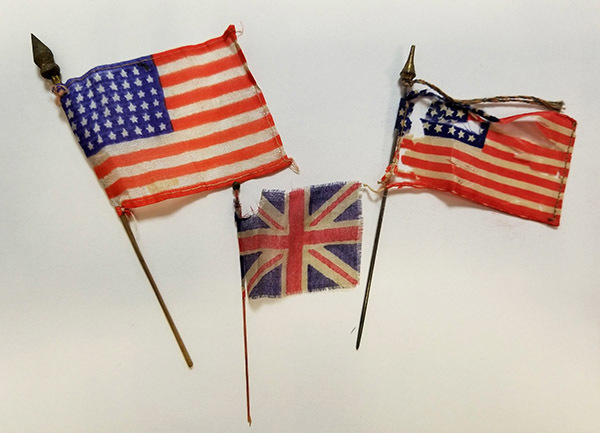 American and British flags
