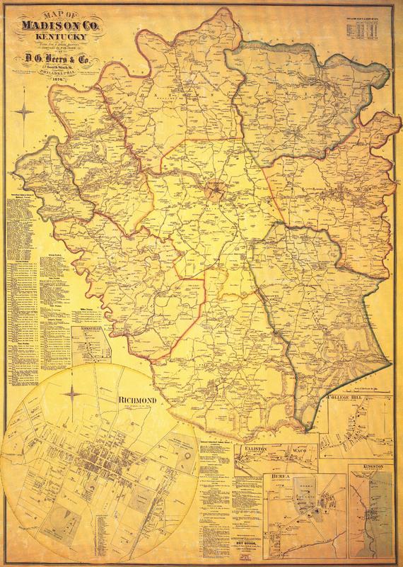 Map of Madison Co, Kentucky