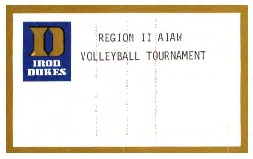 AIAW Region II Championship, Volleyball, Large