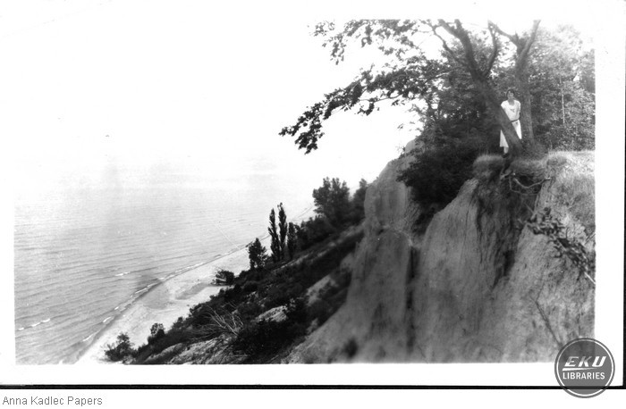 Unidentified Woman on a Cliff