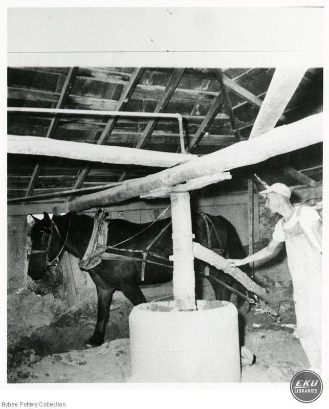 Horse Turning the Pug Mill