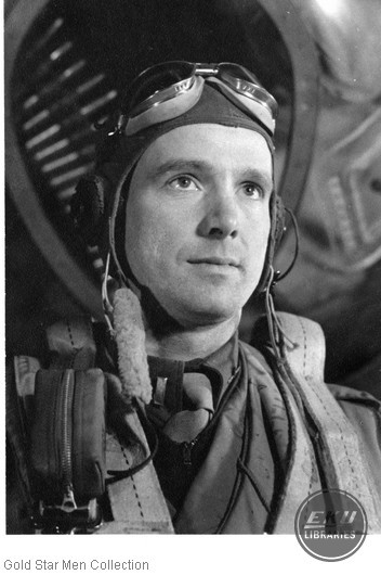 Cecil M. Hall in Army Air Forces pilot uniform