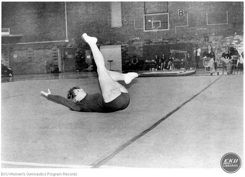 Gymnasts on Floor Exercise