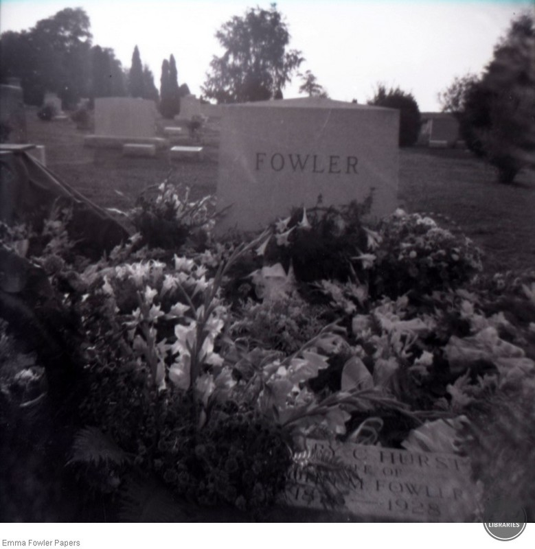 Fowler Grave with Flowers