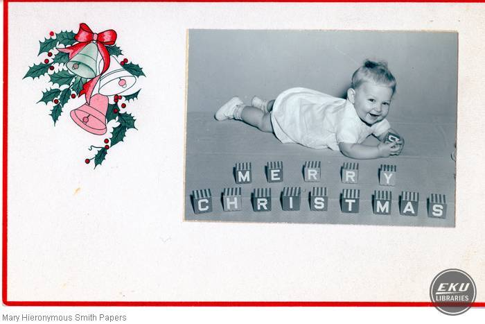 Unidentified baby on a Christmas card
