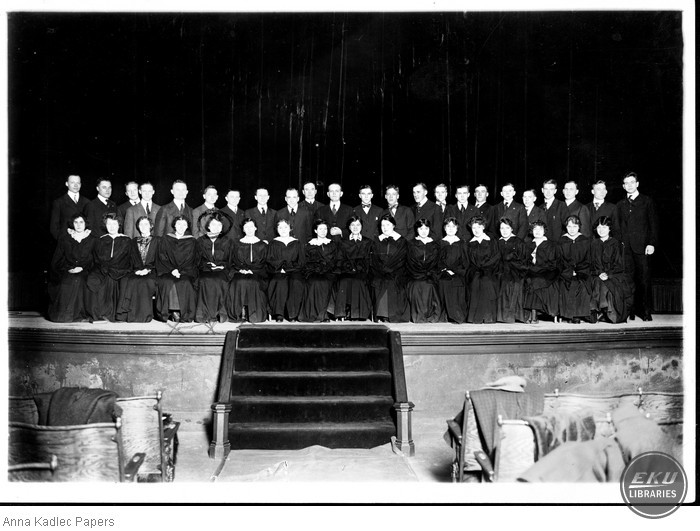 Anna Kadlec (front row, fifth from the left) and the University of Chicago Choir.