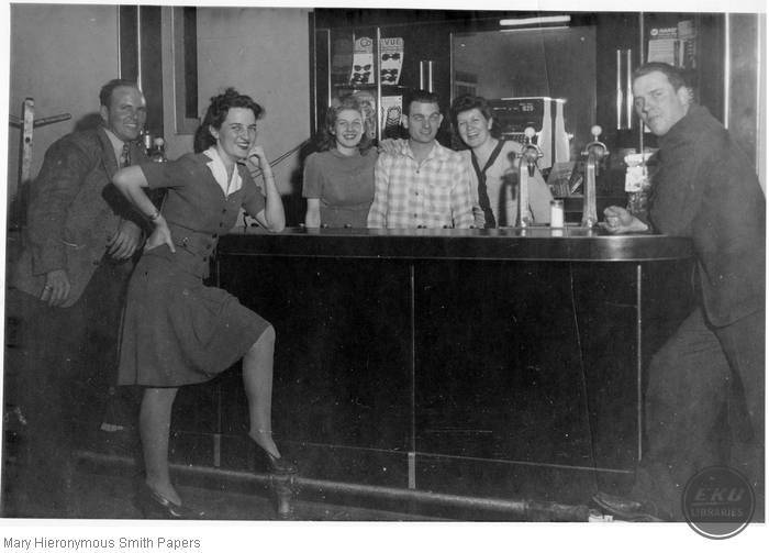 Group of people at a bar