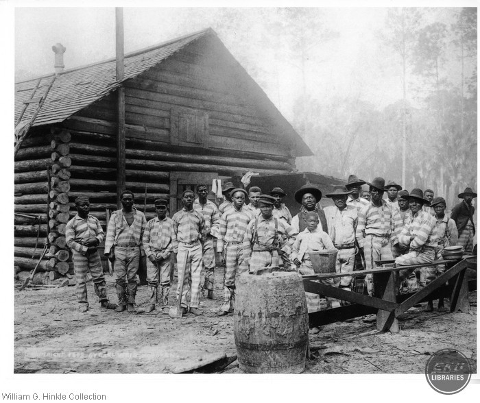Group of Convicts on a Turpentine Farm in Florida