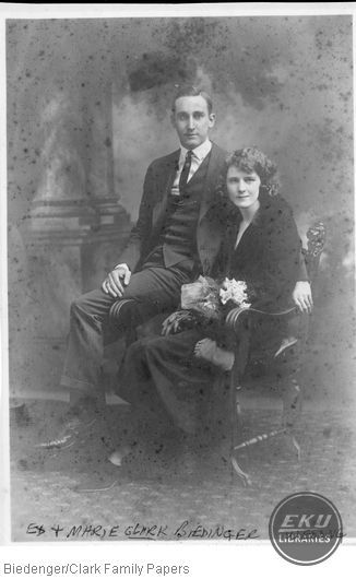 Ed and Marie Clark Biedenger on their wedding day