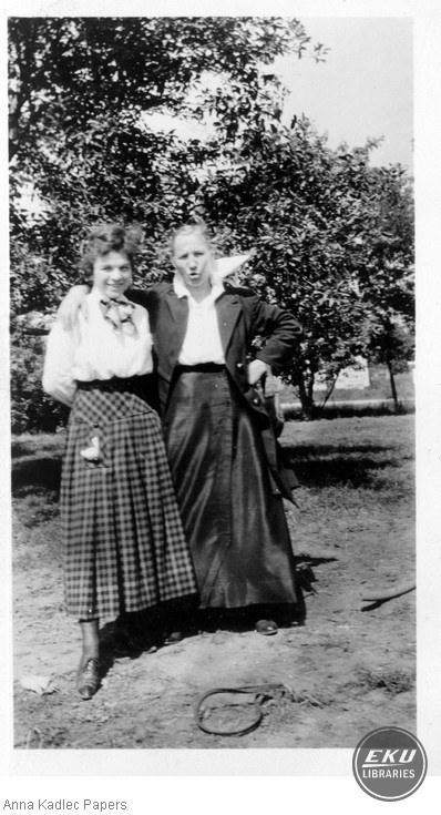 Anna Kadlec and her mother, Anna Koutecky in Michigan
