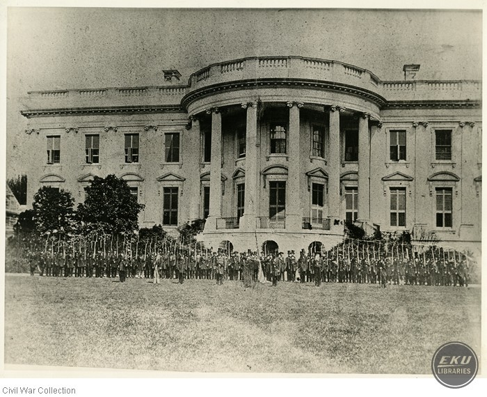 Clay Battalion in front of White House