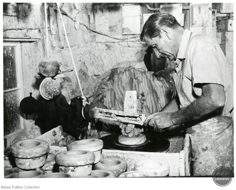 Unidentified Man at Pottery Wheel