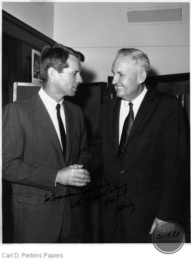 Robert Kennedy with Carl D. Perkins