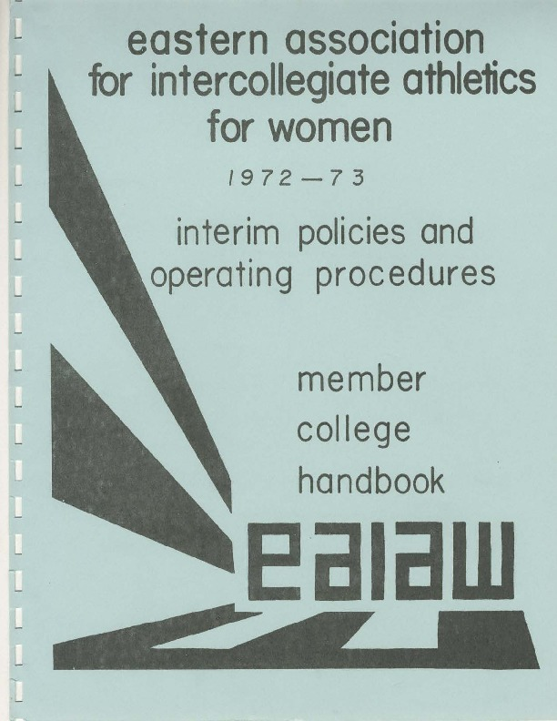 Eastern Association for Intercollegiate Athletics for Women Handbooks