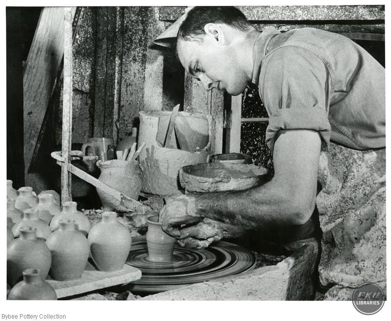 Walter Cornelison Throwing a Pot