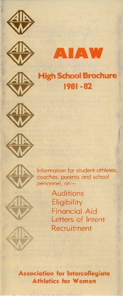 AIAW Publications Series, Publications, South, High School Brochure
